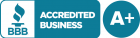 Better Business Bureau - accredited A+